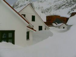 Deep snow at the Museum